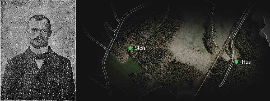 Den vise Sven Persson, hans fina sten och resterna av hans hus.